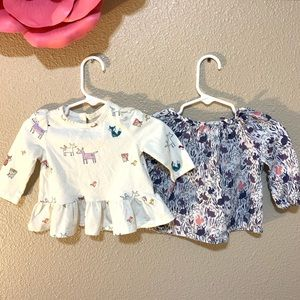 Baby Gap forest animal top lot 3-6